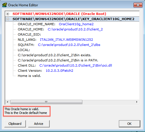 Oracle Home Editor