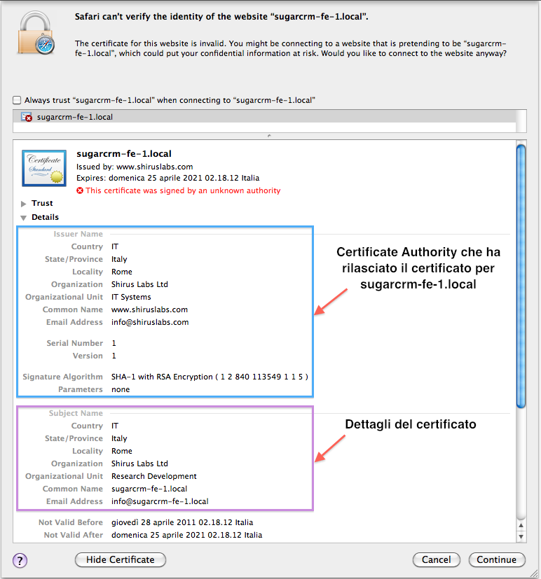 Importing SSL certificates on the Java Keystore (JKS)