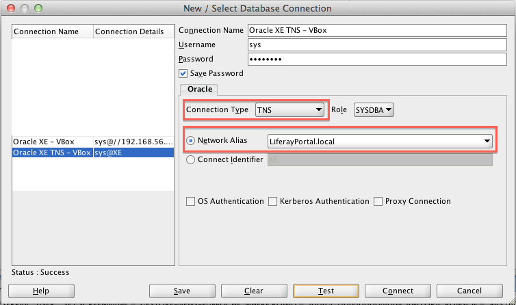 Oracle SQL Developer Connection