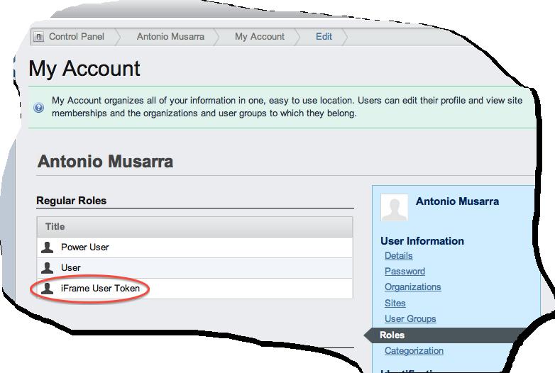 Figura 3 Associazione del ruolo all'utente.