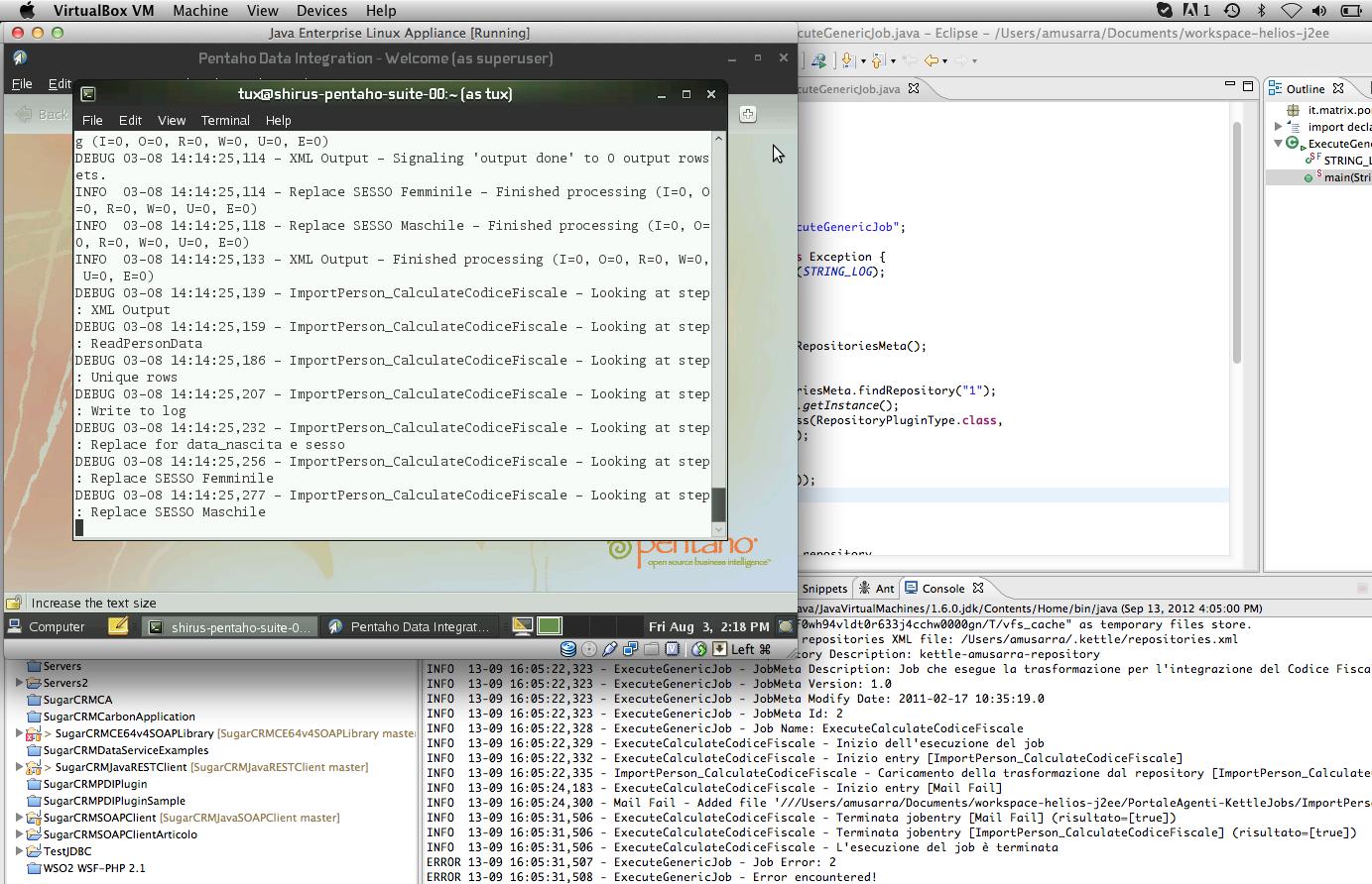 Esecuzione del Job Kettle via API Java