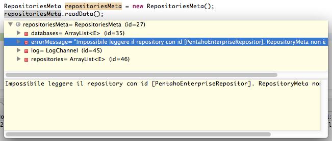 Figura 7 Errore durante la lettura della configurazione dei repository