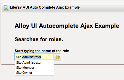 Alloy UI Autocomplete Ajax Example