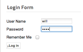 Figure 5 - The Joomla login form